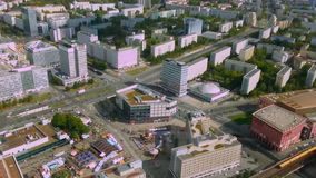 Beautiful aerial view of Berlin, Germany. Hectic life of European megalopolis. Stock footage stock footage
