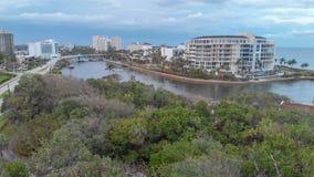 Beautiful aerial view of Boca Raton coastline, Florida.  royalty free stock photography