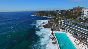 Beautiful aerial view of Bondi Beach, Sydney Stock Photo