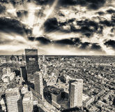 Beautiful aerial view of Boston, MA Royalty Free Stock Images