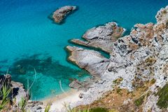 Beautiful aerial view of Calabria coastline - Italy in summer Royalty Free Stock Photos