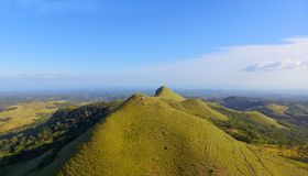 Beautiful aerial view of the central mountain region of Panama. Looking towards the Pacific ocean stock images