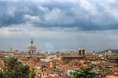Beautiful Aerial View of Downtown Rome Italy Royalty Free Stock Photos