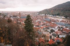 Beautiful aerial view of the Heidelberg Royalty Free Stock Photography