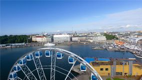 Beautiful aerial view of Helsinki, Finland.  royalty free stock photo