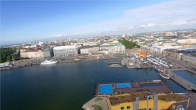 Beautiful aerial view of Helsinki, Finland.  royalty free stock photos