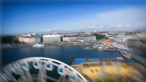 Beautiful aerial view of Helsinki, Finland.  royalty free stock images