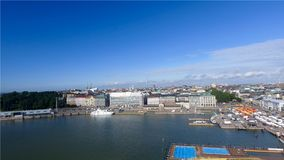 Beautiful aerial view of Helsinki, Finland.  royalty free stock photography