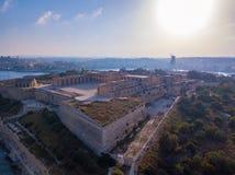 Manoel island fortress near Valletta on Malta. Beautiful aerial view of the Manoel island fortress near Valletta on Malta Stock Photo