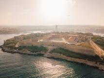 Manoel island fortress near Valletta on Malta. Beautiful aerial view of the Manoel island fortress near Valletta on Malta Royalty Free Stock Images
