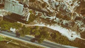Beautiful aerial view of Marble Quarry abandoned industry.  stock images
