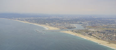 The beautiful aerial view of Marina Del Rey Stock Image