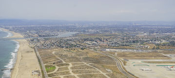 The beautiful aerial view of Marina Del Rey Stock Photos