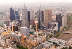 Beautiful aerial view of Melbourne skyline, Australia Stock Images
