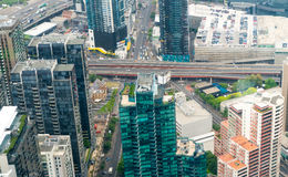 Beautiful aerial view of Melbourne skyline, Australia Royalty Free Stock Image