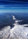 Beautiful aerial view on mountain range Stock Images