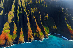 Beautiful aerial view of Na Pali coast Stock Image