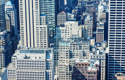 Beautiful aerial view of New York City architecture. Buildings a Royalty Free Stock Photos