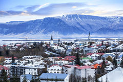 Beautiful Aerial View Of Reykjavik City, Iceland. Royalty Free Stock Images