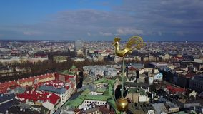 Aerial View of Riga, Latvia stock video