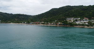 Beautiful aerial view of Patong beach in Phuket stock video footage
