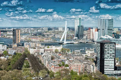 Beautiful aerial view of Rotterdam skyline Stock Image