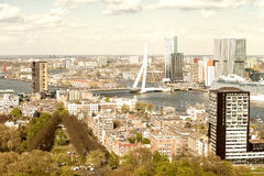 Beautiful aerial view of Rotterdam skyline Stock Photos