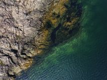 Beautiful aerial view of seaway royalty free stock photography