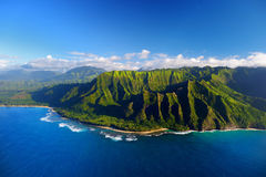 Beautiful aerial view of spectacular Na Pali coast Royalty Free Stock Image