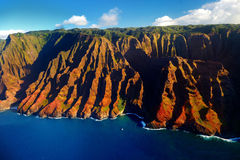 Beautiful aerial view of spectacular Na Pali coast Royalty Free Stock Photo