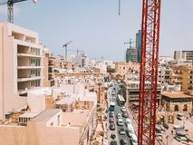 Spinola Bay, St. Julians and Sliema town on Malta. Beautiful aerial view of the Spinola Bay, St. Julians and Sliema town on Malta Royalty Free Stock Images
