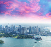 Beautiful aerial view of Sydney skyscrapers, Australia Royalty Free Stock Image