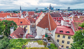 Beautiful aerial view of Tallinn cityscape from Toompea Hill, Es Royalty Free Stock Photos