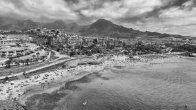 Beautiful aerial view of Tenerife Beach in summer - Canary Islan Royalty Free Stock Image