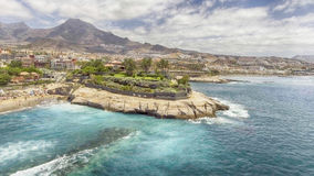 Beautiful aerial view of Tenerife Beach in summer - Canary Islan Royalty Free Stock Photo