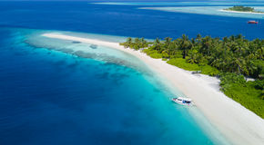 Beautiful aerial view of tropical beach Stock Photography