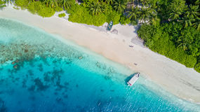 Beautiful aerial view of tropical beach Royalty Free Stock Photos