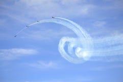 Beautiful aerobatics Royalty Free Stock Images