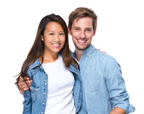 Beautiful affectionate couple smiling Stock Image