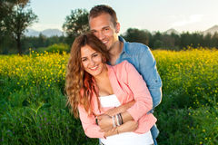 Beautiful affectionate young couple in love. Royalty Free Stock Photography