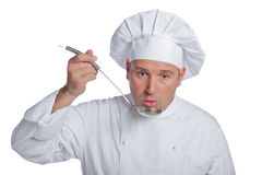Beautiful chef isolated on white Stock Images