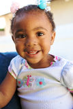 A Beautiful African American Baby smiling Stock Photo