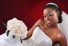 Beautiful African American Bridal Portrait Stock Photo