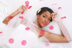 Beautiful African American Bridal Portrait Stock Photography