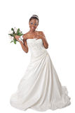 Beautiful African American Bride Portrait Royalty Free Stock Images