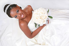 Beautiful African American Bride Portrait Stock Photos