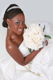 Beautiful African American Bride Portrait Stock Photo