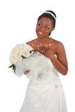 Beautiful African American Bride Portrait Stock Photography