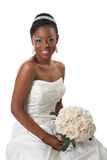 Beautiful African American Bride Portrait Royalty Free Stock Photos