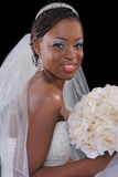 Beautiful African American Bride Portrait Stock Image